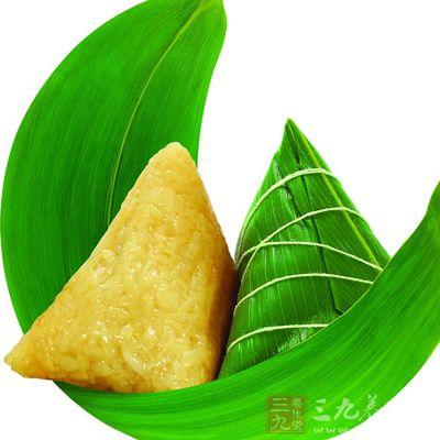 粽子此时因为其特有的清香味,就可以成为一种很好的开胃的食物